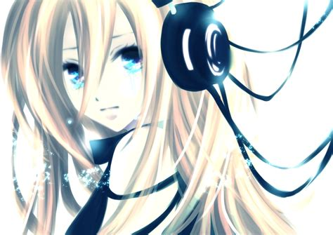 with headphones anime with white hair and headphones newhairstylesformen2014