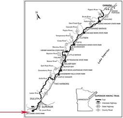 hiking trails map superior hiking trail rei fund will complete route