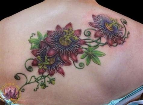passion flower tattoo designs purple flower search