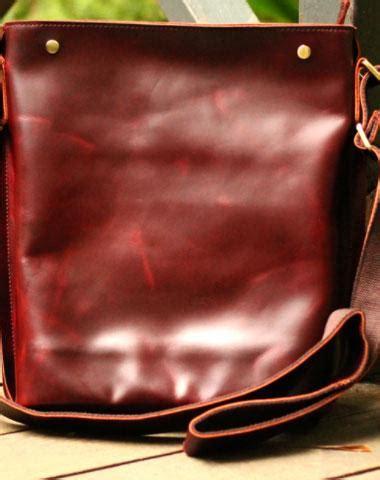 Cluth Anyam Slorok 30cm Orange Handmade Vintage Satchel Leather Normal Messenger Bag