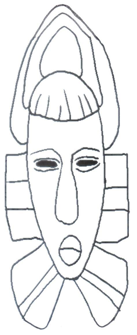 New Color Brows Coloring Mascara 1 mascaras africanas para colorear sketch coloring page