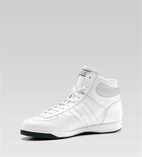 gucci sneakers for gucci hi top lace up sneaker white leather sneaker