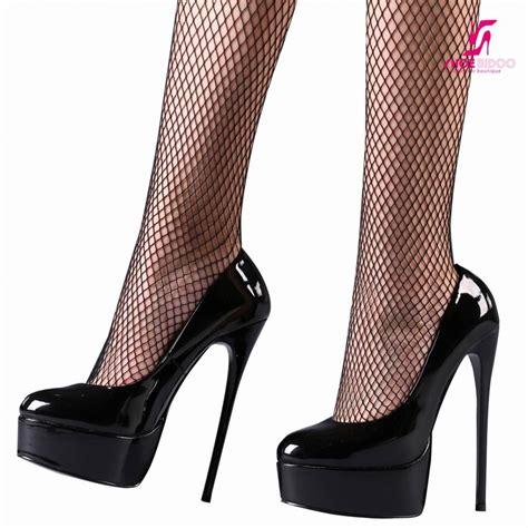 Pumps Heels Glossy K0405 black shiny giaro high 16cm platform heel pumps shoebidoo shoes giaro high heels