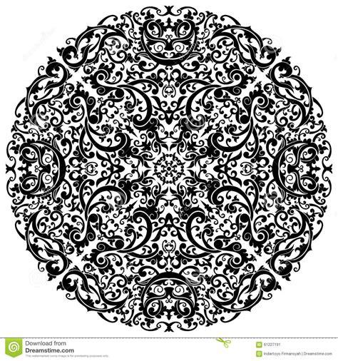 batik ornament wallpaper arabic batik circle floral pattern ornament royalty free