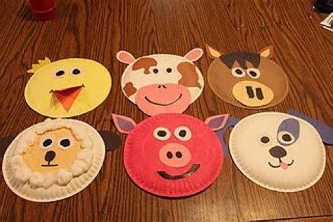 Animal Masks To Make With Paper Plates - diy farm crafts and activities with 33 farm coloring
