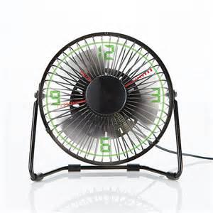 Small Desk Fan Big W Brookstone Clock Fan With Floating Led Time Display Ebay
