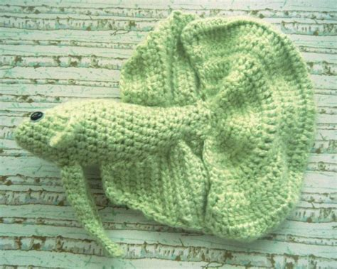Adorable hand crocheted Betta Fish! 12 inches long ... Fridge Magnet Toys
