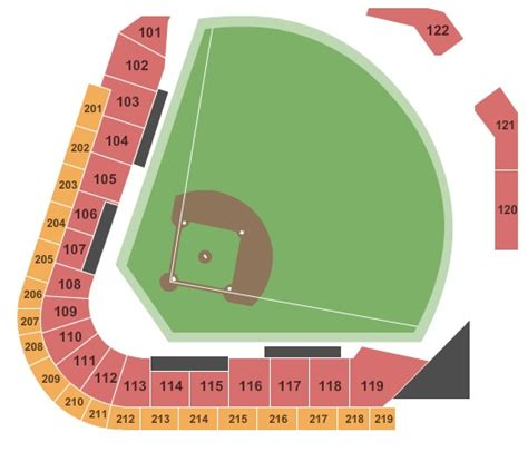 railriders seating chart fifth third field tickets in toledo ohio fifth third