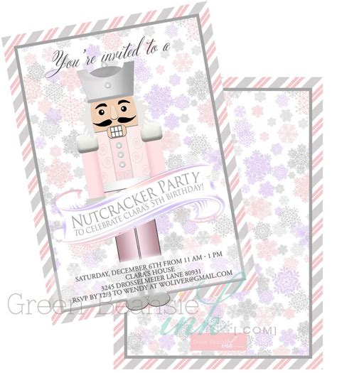 printable nutcracker invitations 17 best images about nutcracker themed birthday on