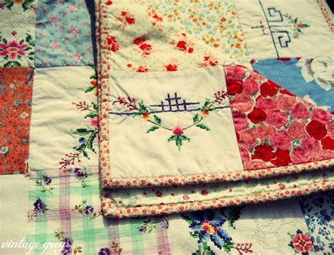 Grey Patchwork Quilt - vintage grey a vintage patchwork quilt stitching
