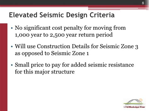 seismic design criteria version 1 7 i 74 corridor project update iowa department of
