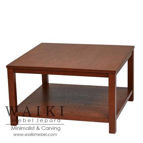 Meja Tamu Coffe Table Minimalis Modern Kayu Jati Belanda Blitar square coffee table meja tamu jati persegi minimalis