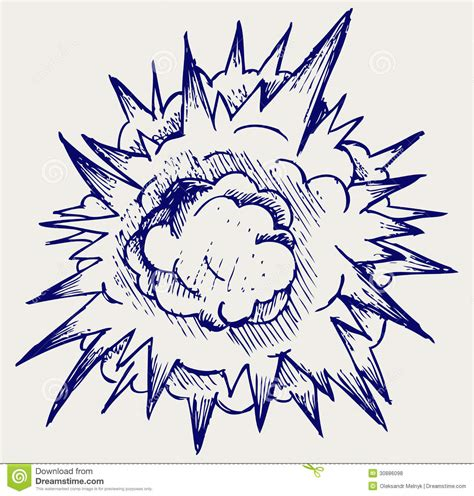 doodle napalm cloud after the explosion royalty free stock photos