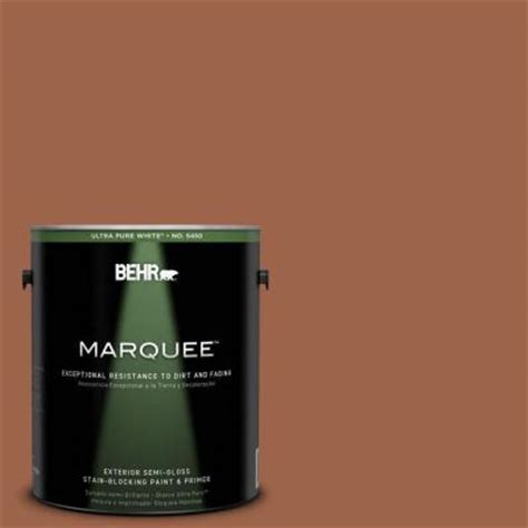 behr marquee 1 gal ul120 4 antique copper semi gloss enamel exterior paint 545301 the home depot