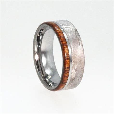 mens tungsten wedding rings meteorite ring by