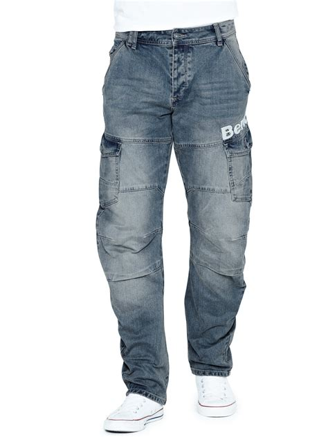 bench bench scratch mens loose arc fit jeans in blue for