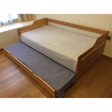 single bed pull out trundle bed 2 in 1 bed frame plus