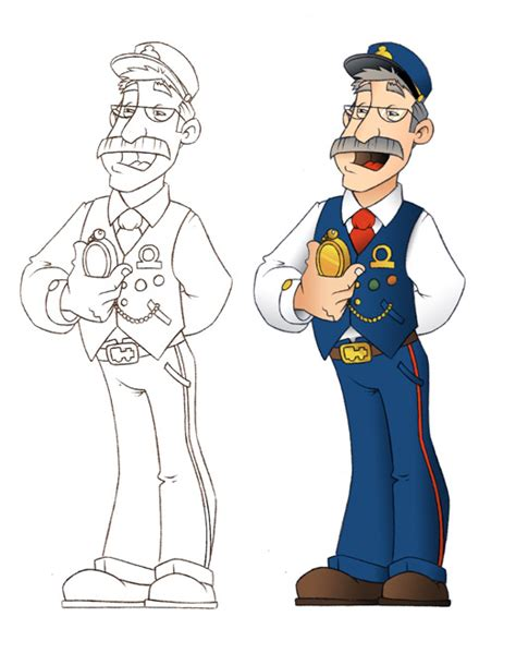 coloring pages train conductor train conducter free coloring pages