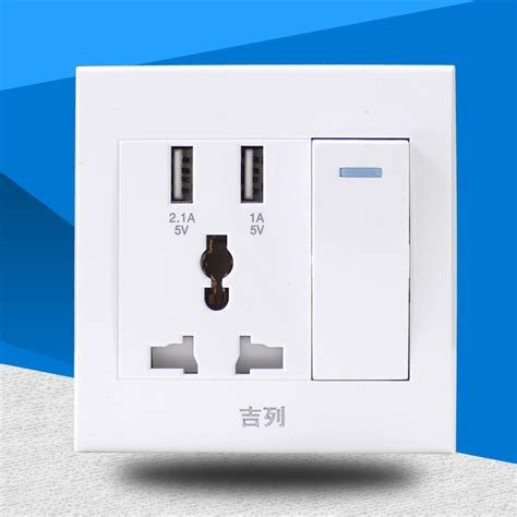 Usb Car Charger 10a 21a 1pcs wholesale high quality wall switch socket with 2 usb charger port intelligent fast charging 220v