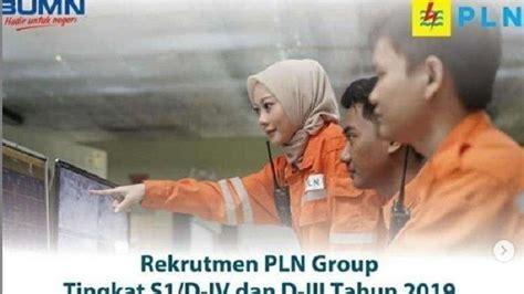 info lowongan kerja pln rekrutmen pegawai terima lulusan