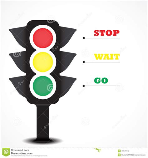 A Yellow Traffic Light Means by Traffic Light Symbol Stock Vector Image 49641447