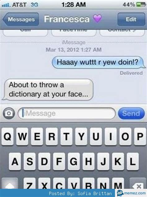 Meme Dictionary - throw a dictionary at your face