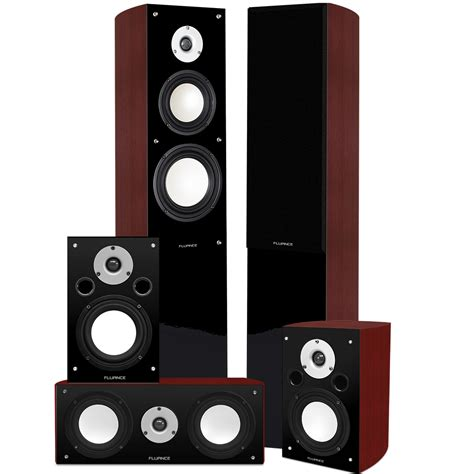 fluance xl5htb high performance 5 0 surround sound home