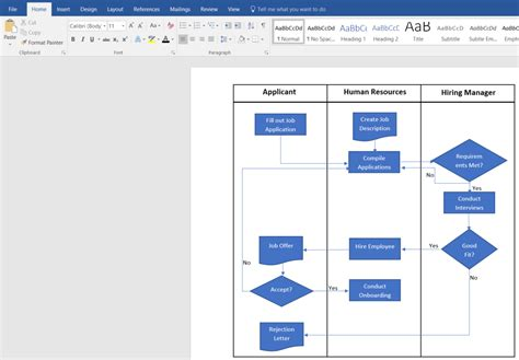 flowchart in word 2007 how to create a swimlane diagram in word lucidchart