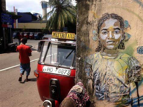 stencil street artist  paints  series  pieces