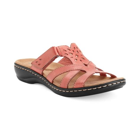 shoes clarks clarks womens shoes leisa plum sandals in pink bright