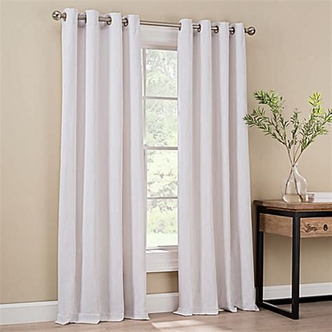 Lined Grommet Curtains Lined Grommet Top Window Curtain Panel Bed Bath Beyond