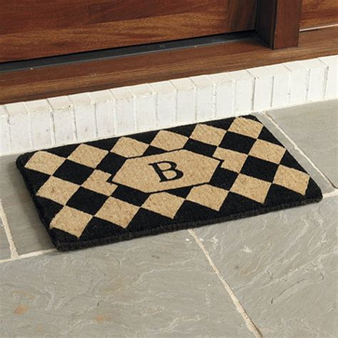 Doormat With Initial by Harlequin Initial Coir Mat Small Traditional