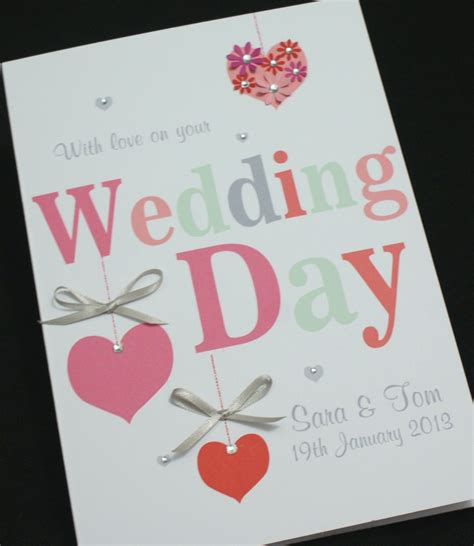 Handmade Wedding Cards Congratulations - large handmade personalised hearts congratulations wedding