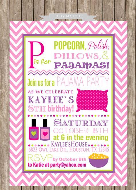 pajamas for 12 year olds items similar to pajama birthday invitation slumber