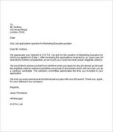 rejection letter template rejection letter 6 free doc