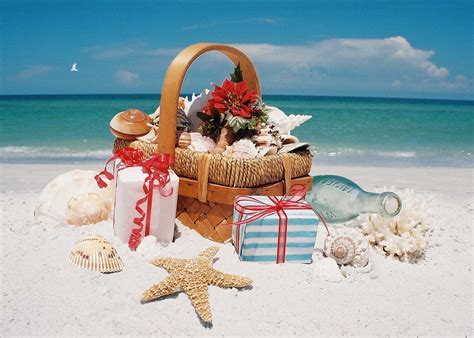 tropical themed photo christmas cards