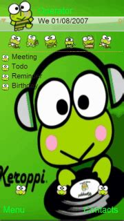 themes of cartoons for mobile download keroppi nokia theme mobile toones