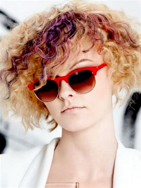 funky colour blonde hair styles curly top trending funky curly hairstyles fave hairstyles