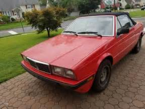 1987 Maserati Spyder 1987 Maserati Biturbo I Zagato Spyder Barn Find For Sale