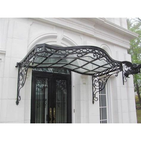 glass awnings for doors 1000 images about wrought iron canopy for doors and
