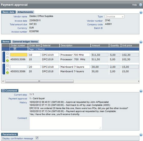 sap invoice approval workflow payment approval of an invoice for sap
