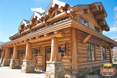 Perre Mountain Cabin 500 Pieces 1 latewood finish cascade handcrafted log homes