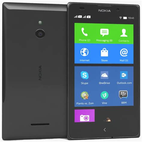 Touchscreen Nokia Xl Rm1030 Ori nokia xl black 3d max