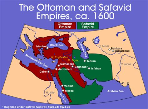 ottoman empire persian chart ottoman and safavid empires