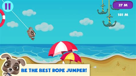 swinging rope games dog rope jumper swing game android apps on google play
