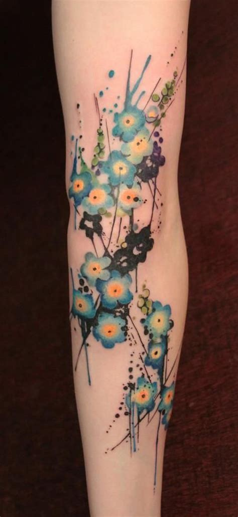 tattoo flower forearm top blue flowers arm images for pinterest tattoos