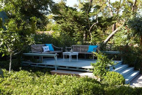 garden area ideas raised wooden deck seating area garden room designs