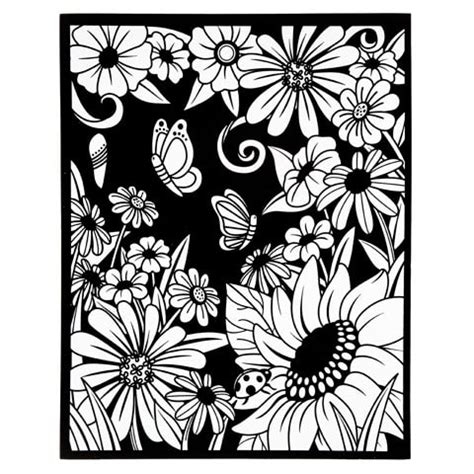 velvet posters to color velvet coloring poster with markers flowers 16 quot x 20 quot