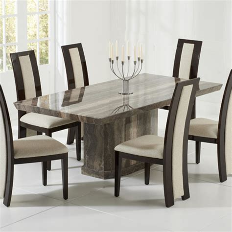 como 2m 5 marble dining table set brown or black