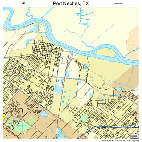 port texas map port neches texas map 4858940